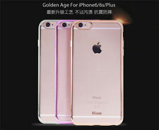 Stylish Hybrid Bumper Clear Silicone TPU Protector Case For Apple iPhone 6 6S +