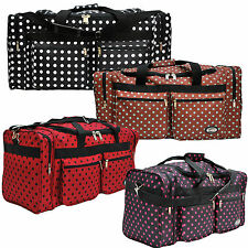"""E-Z Tote"" Polka Dots Duffle Bag/Gym Bag/Travel Bag in 20""/25""/30"" with 4 Colors"