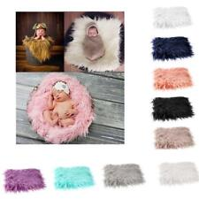 Newborn Baby Wool Photography Photo Props Infant Backdrop Background Blanket Rug