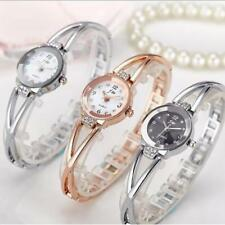 Women Crystal Stainless Steel Watch Waterproof Analog Quartz Wristwatch Gift