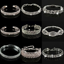 Be Fashion Charm Women Crystal Rhinestone Cuff Bracelet Bangle Jewelry Gift Hot