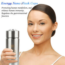 New Quantum Alkaline Water Cup with Filter Nano Ionizer Flask Cups Bottle Silver