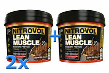 2 x BSc Nitrovol 3kg Lean Muscle Protein Powder Body Science Recovery Whey WPC