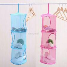 Tag Hanging Mesh Space Saver Bag Room Wall Organizer Toy Storage Basket for Kids