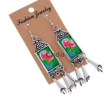 Unique Women's Vintage Bohemian Style Embroidery Drop/Dangle Tassel Earrings