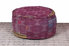 Beautiful Antique Cotton Kantha Made Design Pouf Ottoman Indian Pouffe Cover