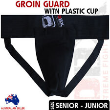 Groin Guard With Plastic Cup Boxing Martial Arts Foul Protector Senior - Junior