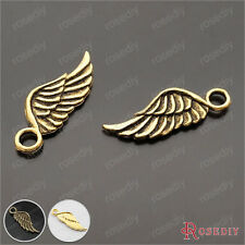 50PCS 17*8MM Zinc Alloy Wing Charms Pendants Jewelry Findings Accessories 23152