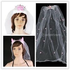 Hen Party Bride to Be Tiara with Veil Girls Night Out Bridal Hair comb Headband