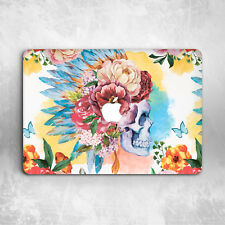 Floral Skull Pattern Hard Cover Case For Macbook Pro Retina Air 11 12 13 15