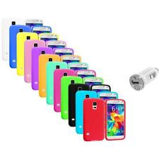 For Samsung Galaxy S5 SV Silicone Soft Rubber Case Color Cover+USB Charger