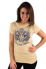 Lucky 7 Beige Ladies Purple Young Fabulous Crown Short Sleeve T-Shirt $39.00 CAD