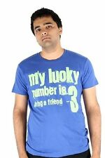 Lucky 7 Blue Mens Lucky Number 3 Bring A Friend Short Sleeve T-Shirt $39.00 CAD