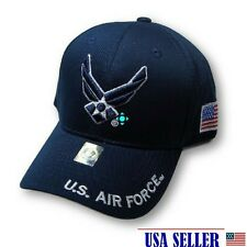 NWT US AIR FORCE 3D EMBROIDERY BASEBALL CAP/HAT Adjustable Velcro COLOR NAVY