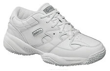 Skidbuster Womens Slip Resistant Athletic M White Leather Shoes