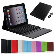 Wreless Bluetooth3.0 Keyboard Case Stand Leather Cover for iPad Mini 2 3 4 Air 2