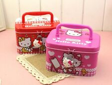 HelloKitty Metal Money Bank Box  Kid Piggy Bank Girl Storage Box w/ Lock KT9702