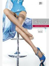 FIORE ELUXA TOELESS THIGH-HI HOLD-UPS 20 DENIER 3 SIZES 2 COLORS