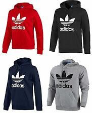 Adidas Originals Mens Trefoil Fleece Hooded Sweatshirt Hoodie Size S M L XL