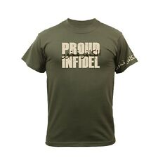 PROUD INFIDEL T-Shirt Army Navy Marine Corps USMC Christian OEF OIF Gulf War