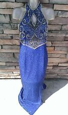 Beautiful Ball Queen SEXY Halter Sequin/Bead SILK GLAMOUR Gown*PLUS*VLV*Cruise