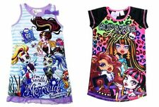 NEW 6=14 KIDS PYJAMAS GIRLS MONSTER HIGH SUMMER SLEEPWEAR PJ TSHIRT NIGHTIE TEES