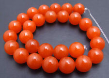 SALE Big 14mm Round China Red jade Loose Beads strand 15'' jewelry making-los693