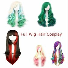 65cm Women's Ladies Long Curly Mixed Colors Hair Full Wig Party KG