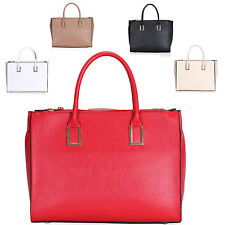 Ladies Designer Faux Leather Handbag Work Shoulder Bag Grab Bag Satchel GN8204