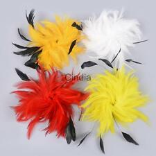1pc Natural Chicken Feathers Sprays On Wire for Decorating Cake Floral Craft DIY