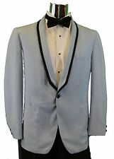 Mens Tuxedo Jacket Blue with Black Trim on Shawl Lapel