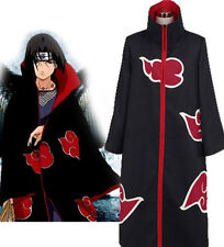 Fashion Naruto Akatsuki Cosplay Uchiha Itachi Robe Cloak Coat Anime Costume