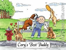 PERSONALIZED CUSTOM CARTOON PRINT - DOG LOVER - GREAT GIFT IDEA! FREE S/H