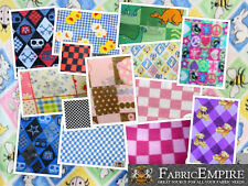 """Polar Fleece Printed Fabric CHECKERS 60"""" Wide Sold By the Yard"""