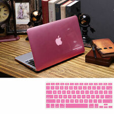 """2item Pink Crystal Hard Case Cover for MacBook 12"""" Air PRO Retina 11.6"""" 13"""" 15"""""""