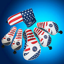 GOLF Driver Headcover Hybrid Head Cover USA Flag For Taylormde M2 Adams Callaway