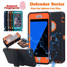 Defender Hybrid Shockproof Heavy Duty Hard Clip Case Cover For iPhone 6s/6 Plus