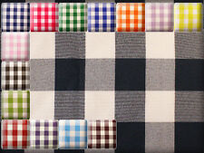 """Poly Poplin Checkered Fabric / 58"""" Wide / Sold by the yard"""