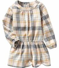 NWT & NWOT  BABY GAP GIRL'S PLAID FLANNEL DROP WAIST DRESS 100% COTTON