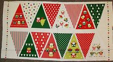 Hoots Owl Bunting Christmas Panel by Nutex
