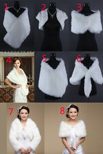 Wedding Faux Fur Jacket Cloak Shrug Wrap Cape Bolero Stole Scalf Shawl Coat
