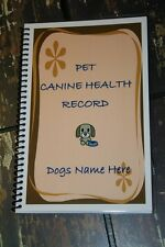 Pet Canine Health Dogs Shot Vaccination and Vet Record Book Personalized Free