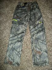 UNDER ARMOUR New NWT Mens Pants Fleece Mossy Oak Camo Camouflage Cold Gear Loose
