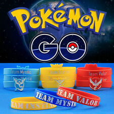 Pokemon Go Team Valor Mystic Instinct Wristbands Silicone Bracelets Gifts Bangle