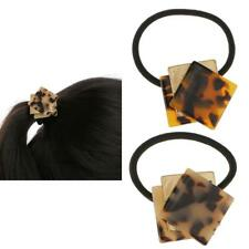 Classic Square Leopard Print Elastic Hair Band Ties Pony Holder Accessory