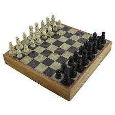 Stylla LondonAntique luxury Handmade Marble Inlaid Stone Chess Board and Pieces