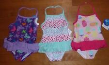 Girls 1 pc Swim Bathing Suit Ruffled Size 3/6 mo 6/9 mo 18 24 Mo 2 3 4T 5T Pink
