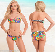 $148 Trina Turk Montezuma Bandeau Top & Buckle Bottom Swimsuit Bikini Set