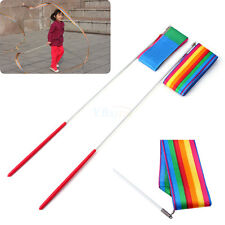 4m Gym Dance Ribbon Rhythmic Art Gymnastic Streamer Baton Twirling Training Rod