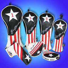 Black Red White Golf Wood Cover Rescue Headcover FW Driver Putter Mallet Ping